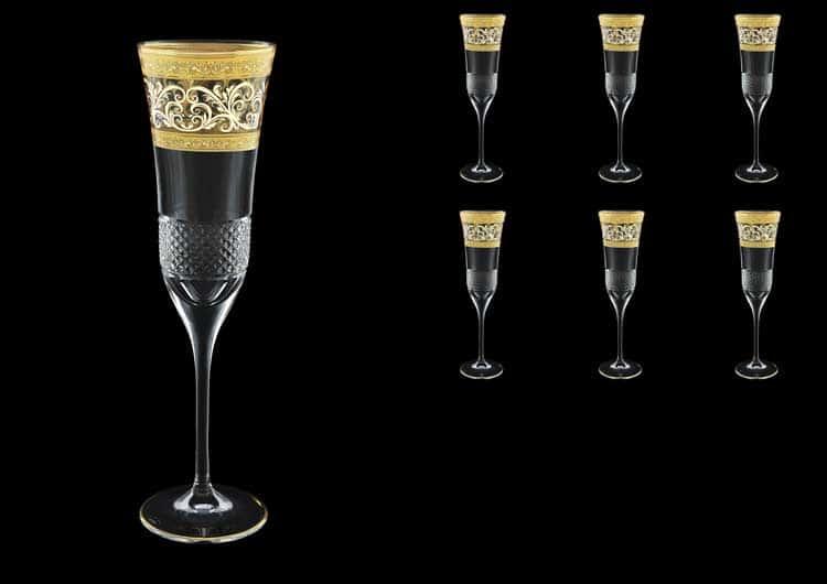 Fiesole Allegro Golden Light Decor Набор фужеров для шампанского 170 мл Astra Gold (6 шт)