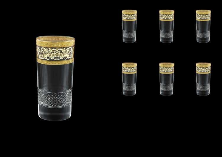 Fiesole Allegro Golden Light Decor Набор стаканов для воды 360 мл Astra Gold (6 шт)