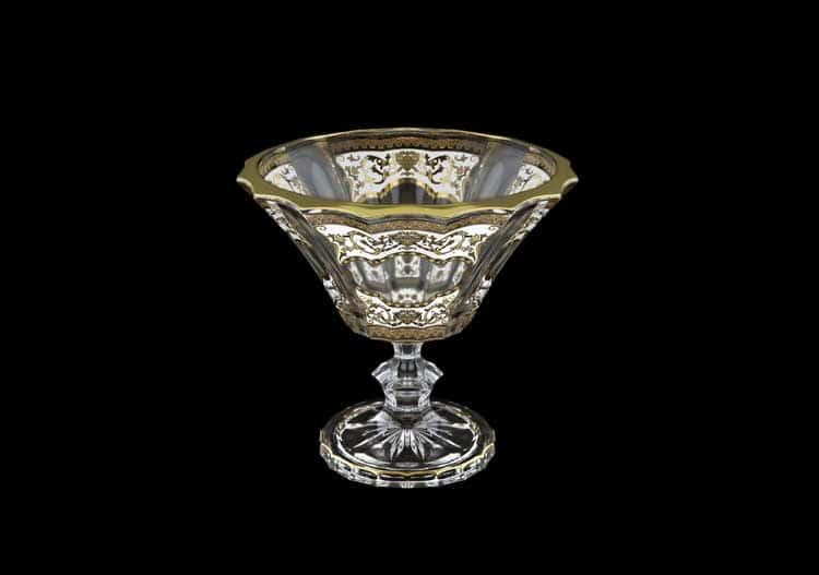 Floras Empire Golden White Light Конфетница на ножке 15,5 см Astra Gold