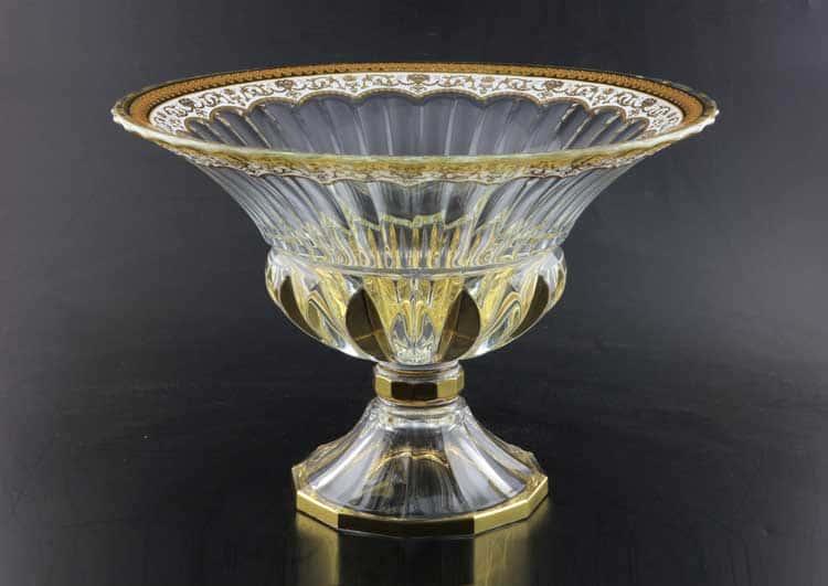 Adagio Floras Empire Golden White Decor+H Фруктовница 35 см на ножке Astra Gold