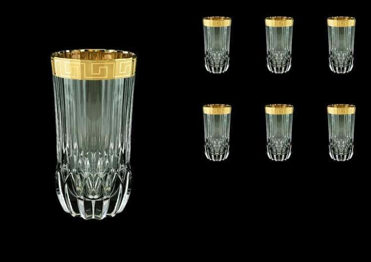 Adagio Antique Golden Classic Decor Набор стаканов для воды 400 мл Astra Gold (6 шт)