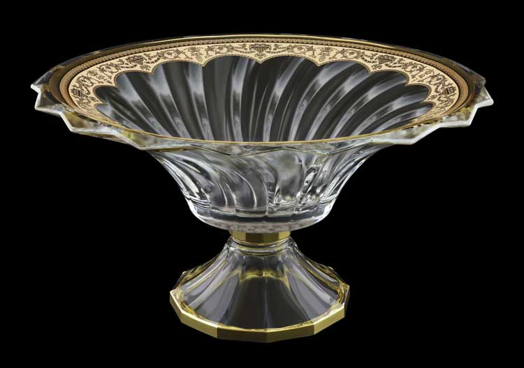 Picadelli Floras Empire Golden Ivory Decor Фруктовница на ножке 35.5 см Astra Gold