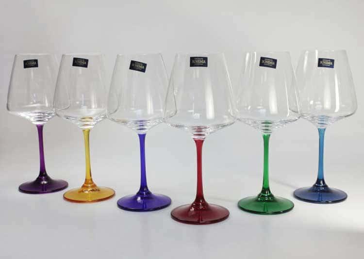 NAOMI/CORVUS HARLEKYN Набор бокалов для вина 450 мл Crystalite Bohemia