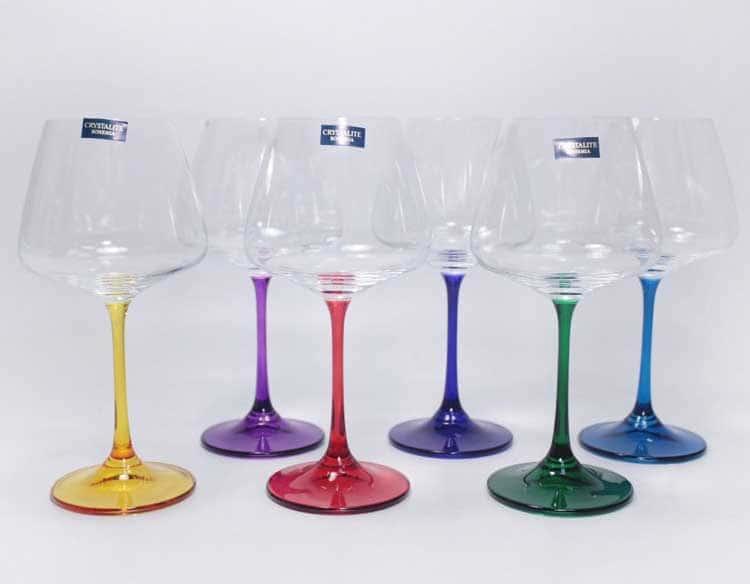 NAOMI/CORVUS HARLEKYN Набор бокалов для вина 360 мл Crystalite Bohemia
