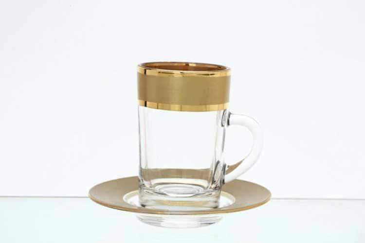 Матовая полоса B-G золото Набор чайных пар