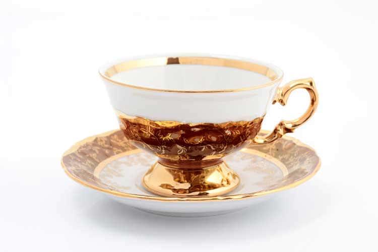 Красный лист Набор чайных пар 220 мл Sterne porcelan