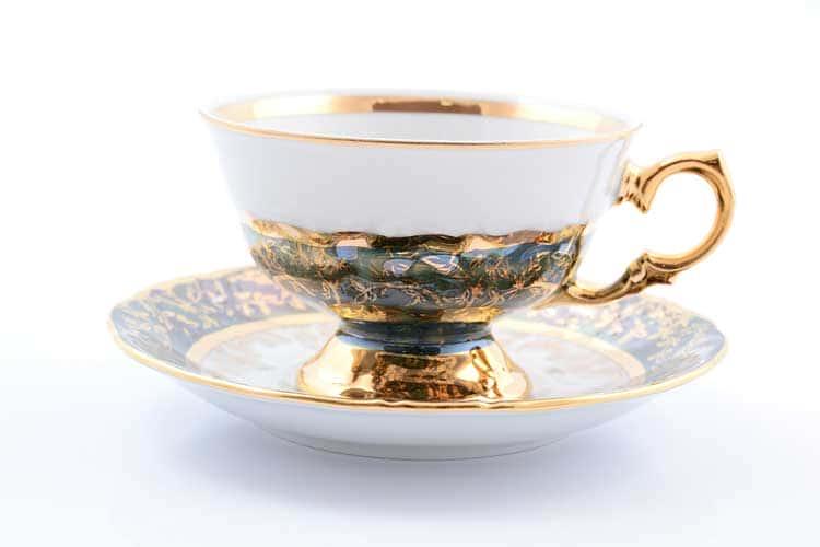 Зеленый лист Набор чайных пар 220 мл Sterne porcelan