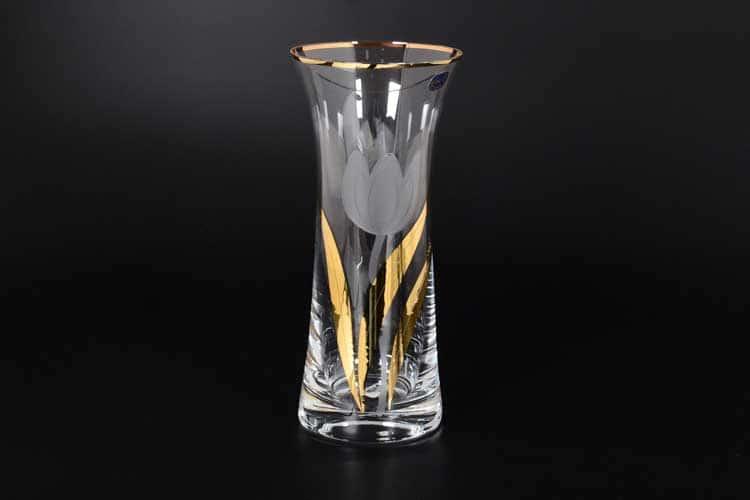Идеал Тюльпан Ваза для цветов Bohemia Crystal 25 см
