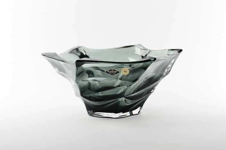 Фламенко серая Фруктовница Bohemia Treasury 29,5 см