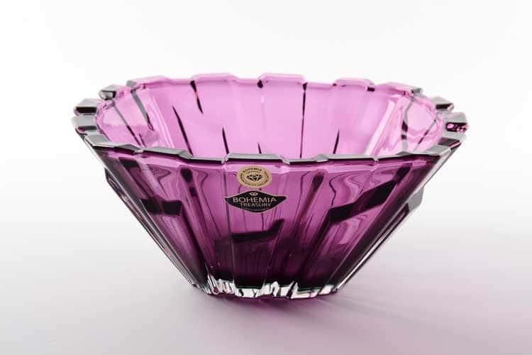 Bolero Middle фиолетовая Конфетница Bohemia Treasury 21 см