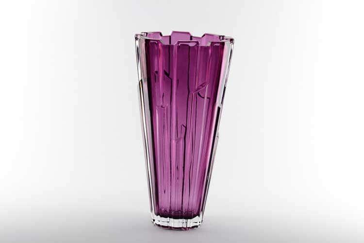 Болеро фиолетовая Ваза для цветов Bohemia Treasury 30 см