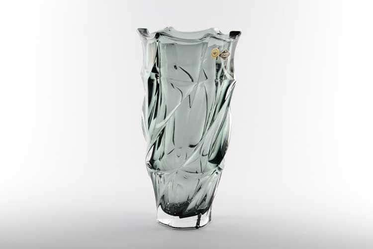 Фламенко серая Ваза для цветов Bohemia Treasury 30 см