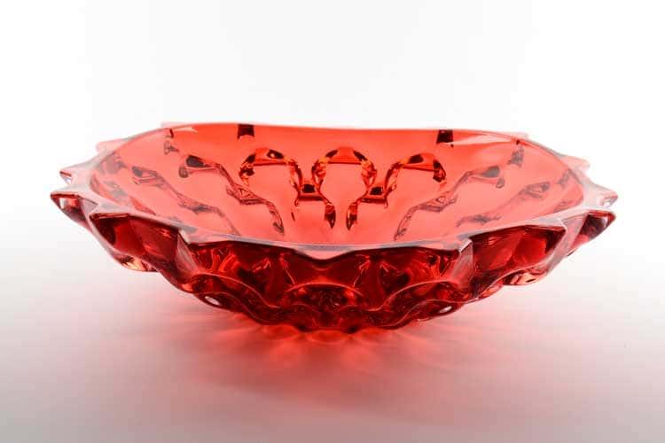 Самба красная Фруктовница Bohemia Treasury 35 см
