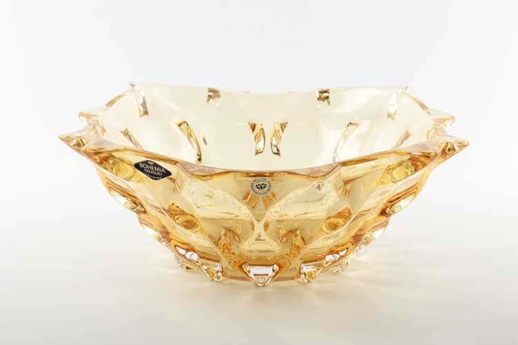 Самба желтая Фруктовница Bohemia Treasury 30 см