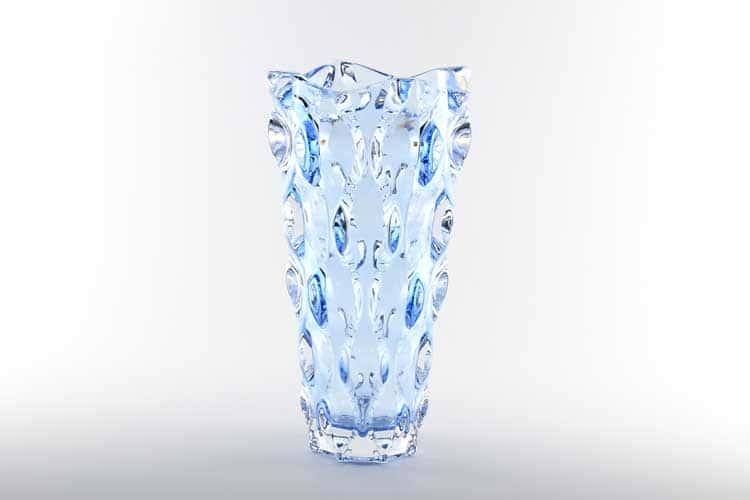 SAMBA RHABSODY синяя Ваза для цветов Bohemia Treasury 30 см