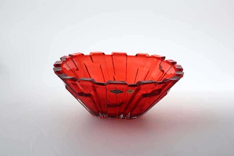 Bolero Large красная Фруктовница BOHEMIA TREASURY 31 см