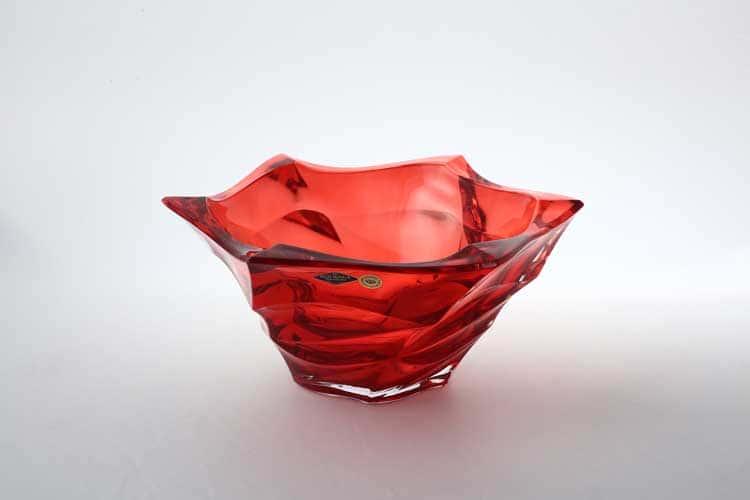 Flamenco красная Фруктовница BOHEMIA TREASURY 29,5 см
