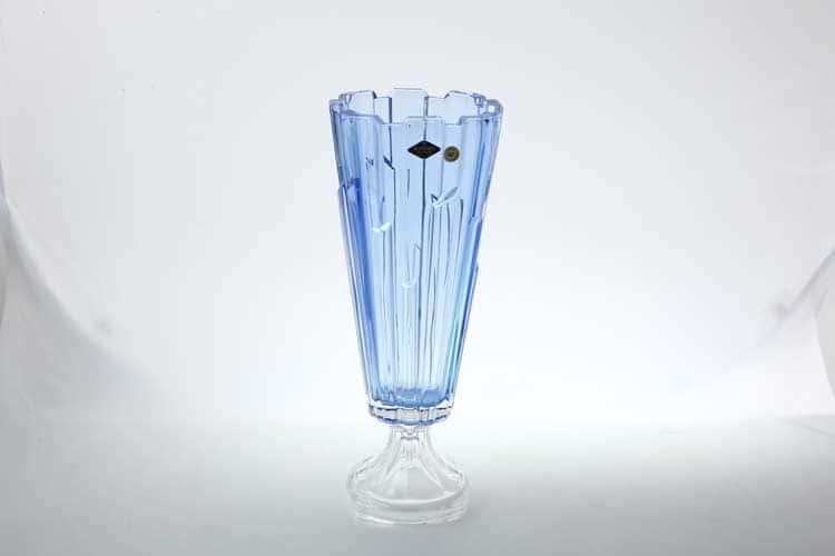 Болеро синяя Ваза для цветов на ножке Bohemia Treasury 40 см