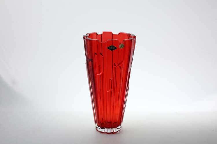 Bolero красная Ваза для цветов Bohemia Treasury 30 см