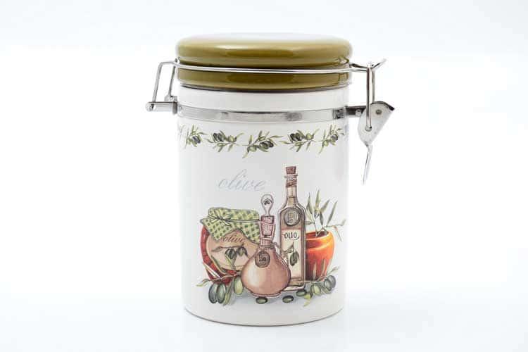 Olive Банка для сыпучих продуктов 800 мл. 12*10*17 см Royal Classics
