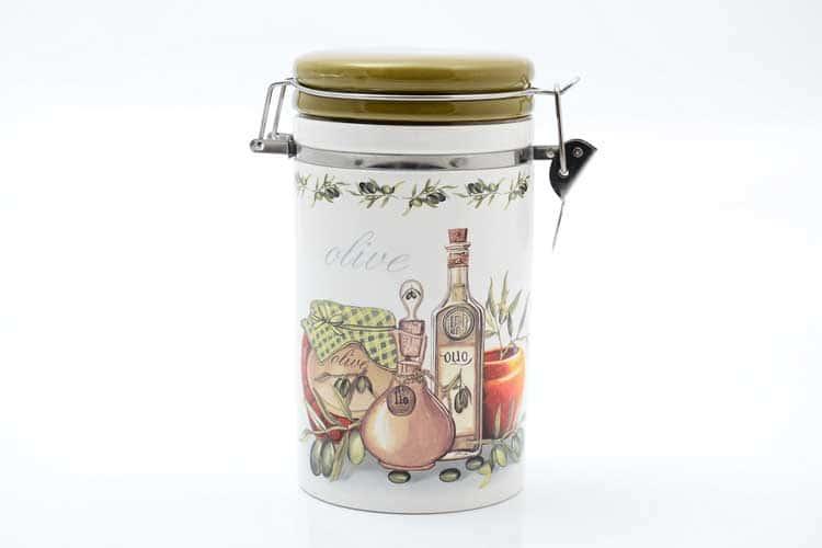 Olive Банка для сыпучих продуктов 900 мл. 12*10*17 см Royal Classics