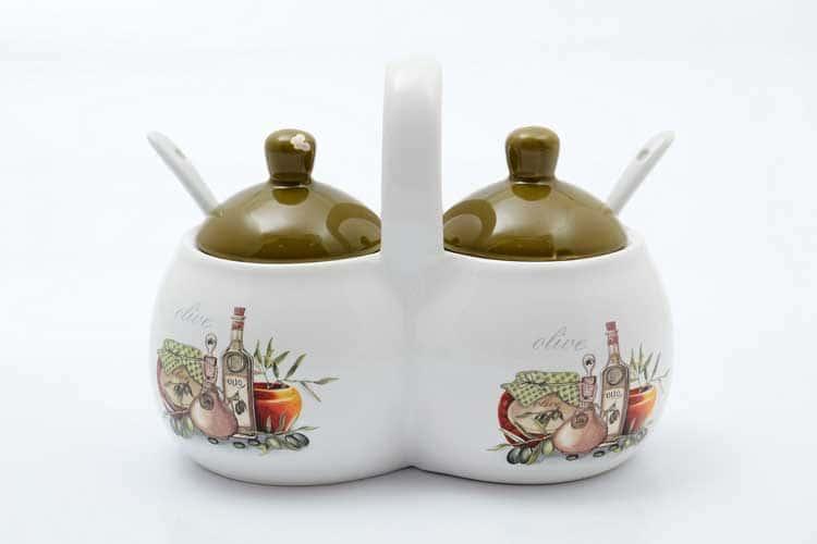 Olive Банка для специй с ложками 2*250 мл. + 2 ложки 15,6*9*12 см Royal Classics