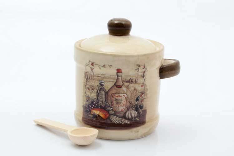 Garlic Банка для сыпучих продуктов с ложкой 13*11*12 см Royal Classics