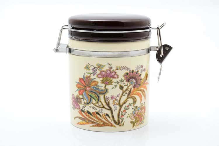 Цветы Банка для сыпучих продуктов 470 мл. 12,3*10,2*12 см Royal Classics