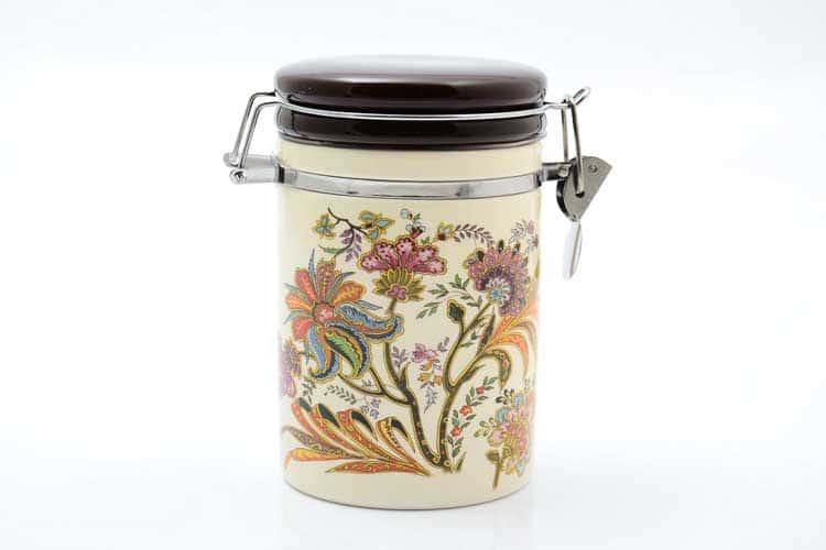 Цветы Банка для сыпучих продуктов 800 мл. 12*10*17 см Royal Classics