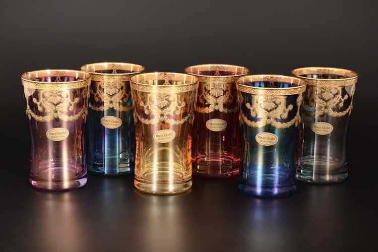 Veneziano Color Набор стаканов для воды 200 мл Art Decor