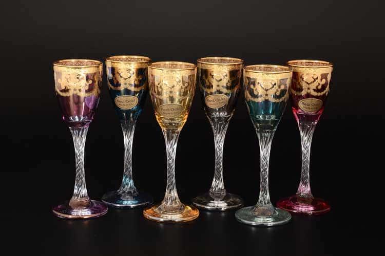 Veneziano Color Набор рюмок для водки Art Decor