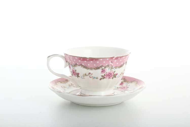 Набор кофейных пар 6 шт Royal Classics розовый