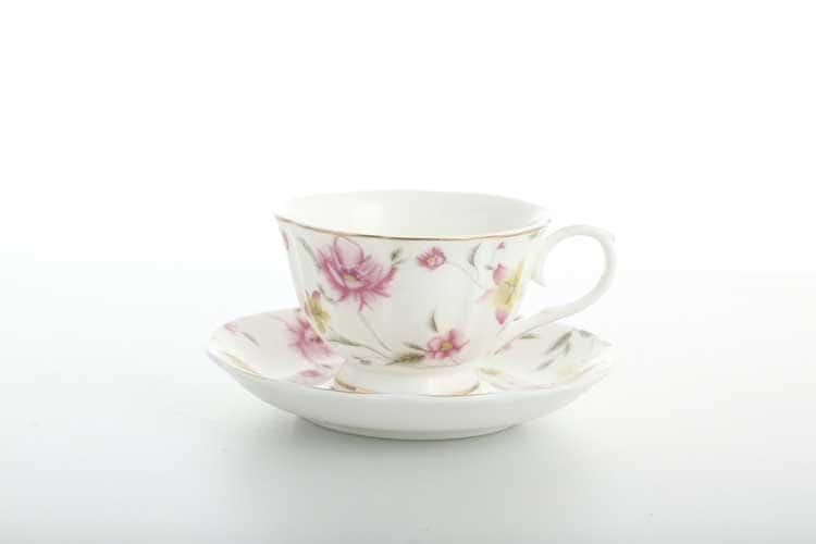 Розовые цветы Набор кофейных пар 6шт Royal Classics