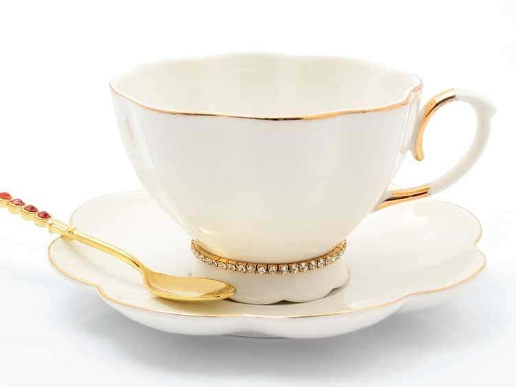 Набор чайных пар Royal Classics 200 мл 6 шт стразы
