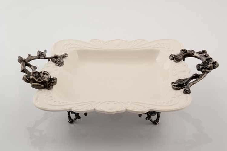 Блюдо Прямоугольное на ножках 35 см Royal Classics