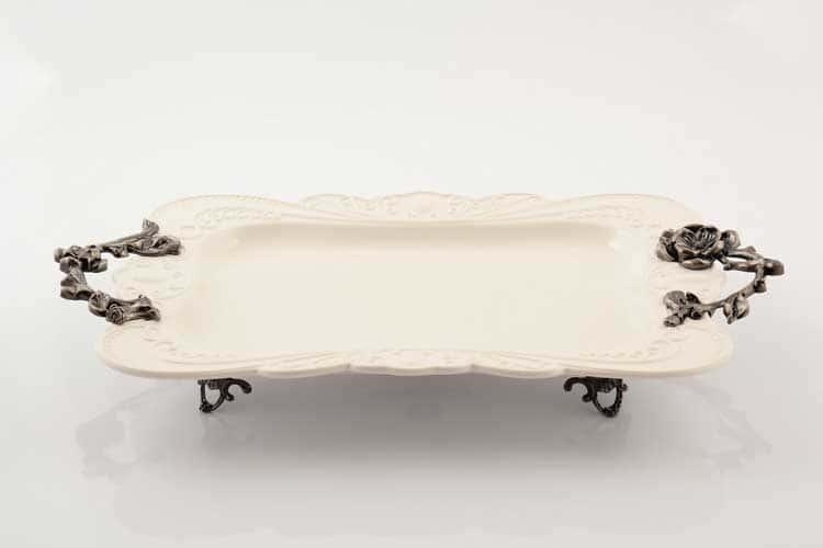 Блюдо Прямоугольное на ножках 50 см Royal Classics