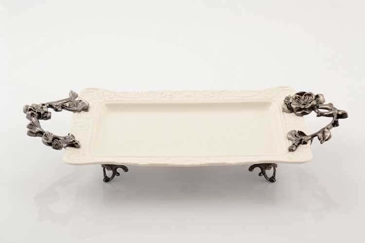 Блюдо Прямоугольное на ножках 40 см Royal Classics