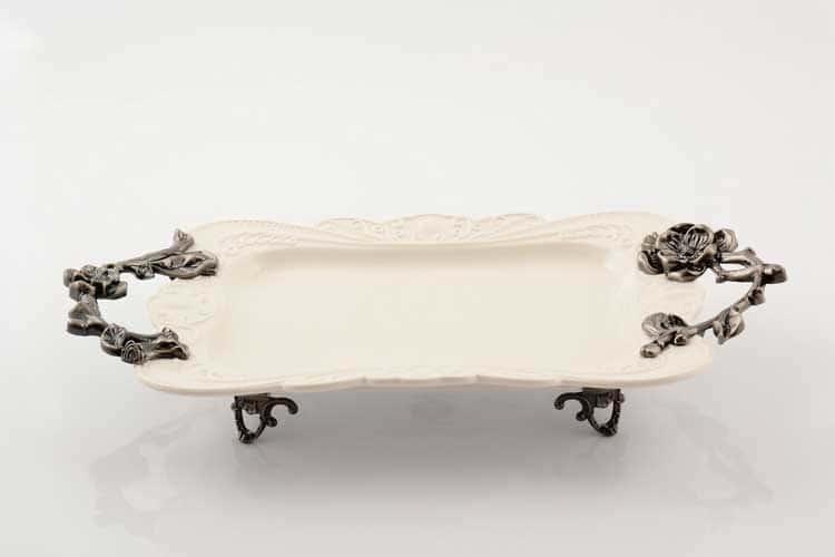 Блюдо Прямоугольное 40 см на ножках Royal Classics