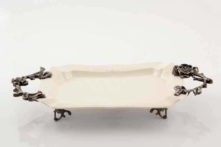 Блюдо Прямоугольное 40 см Royal Classics на ножках