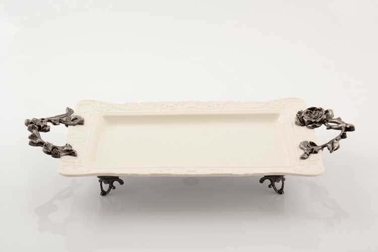 Блюдо Прямоугольное 46 см Royal Classics на ножках