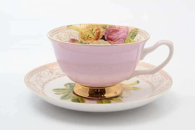 Радуга pink Набор чашка с блюдцем 220 мл 2 предмета Royal Classics