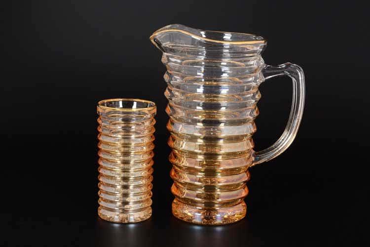 Набор для воды желтый Royal Classics 7 предметов (Графин 1,2 л, стаканы 300 мл)