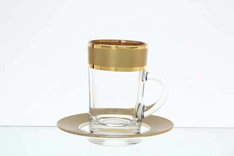 Матовая полоса золото B-G Набор чайных пар