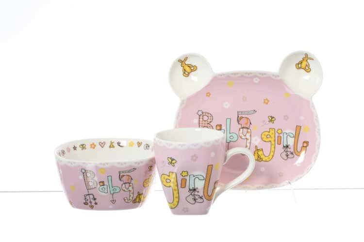 Baby girl Детский набор Royal Classics розовый 3 пред.