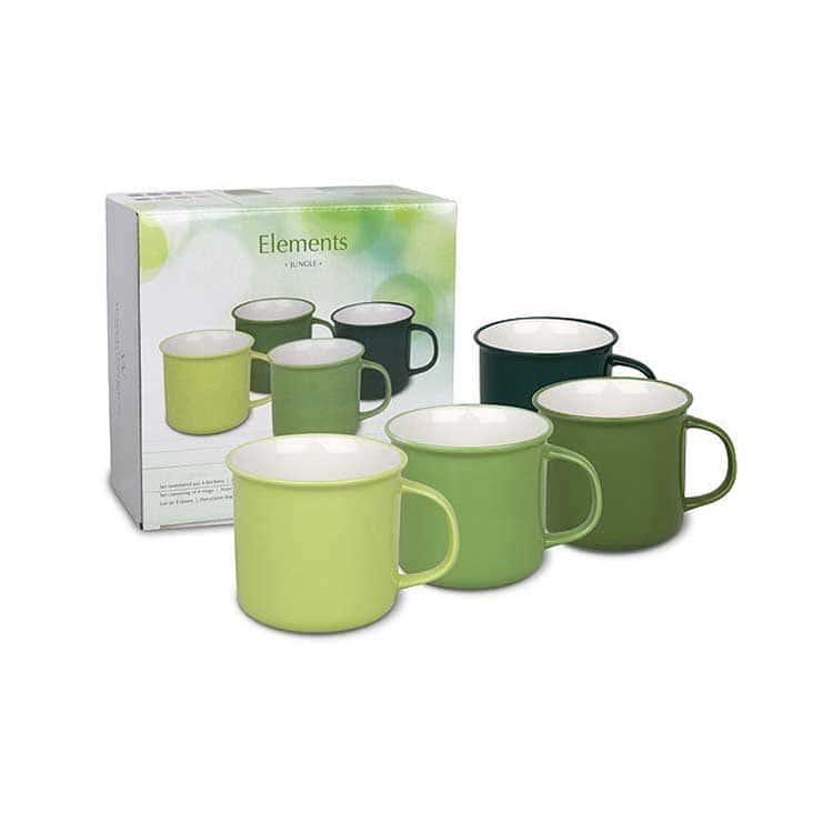 Вехстербах зеленый Набор чашек 4 шт. керамика