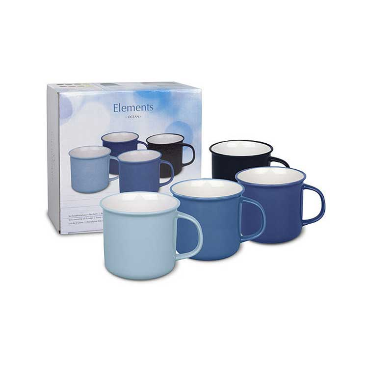 Вехстербах синий Набор чашек 4 шт. керамика
