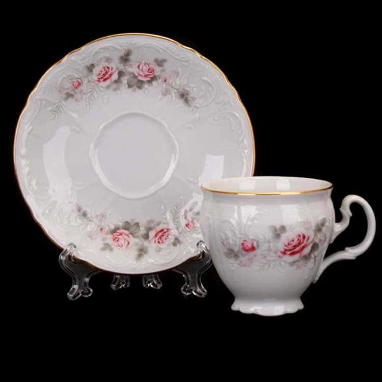 Роза серая 5396011 Набор для кофе Bernadotte 90 мл. на 6 перс.12 пред.