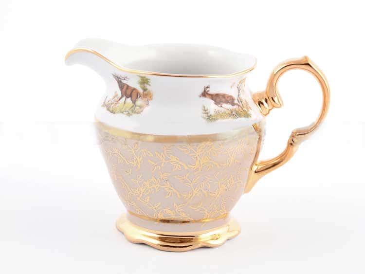 Охота Бежевая Молочник Sterne porcelan
