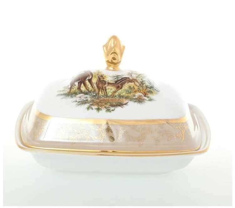 Охота Бежевая Масленка Sterne porcelan