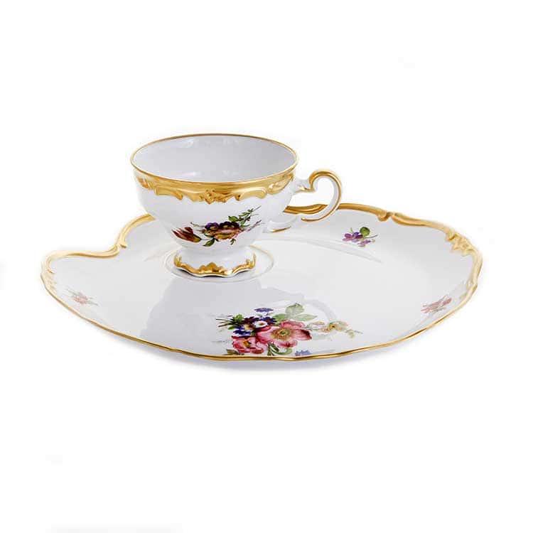 Мейсенский букет Эгоист Набор чайный Weimar на 1 персону 2 предмета